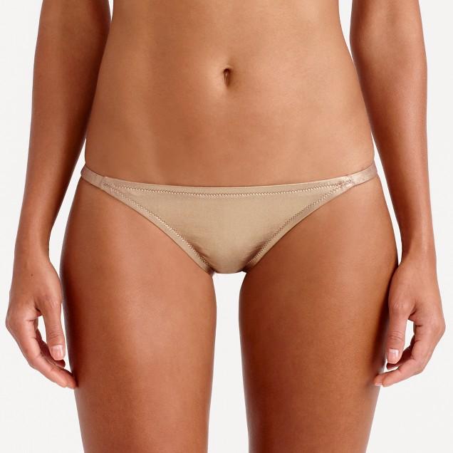 Metallic gold low bikini hipster