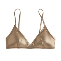 Metallic gold french bikini top