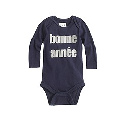 Baby long-sleeve one-piece in bonne année