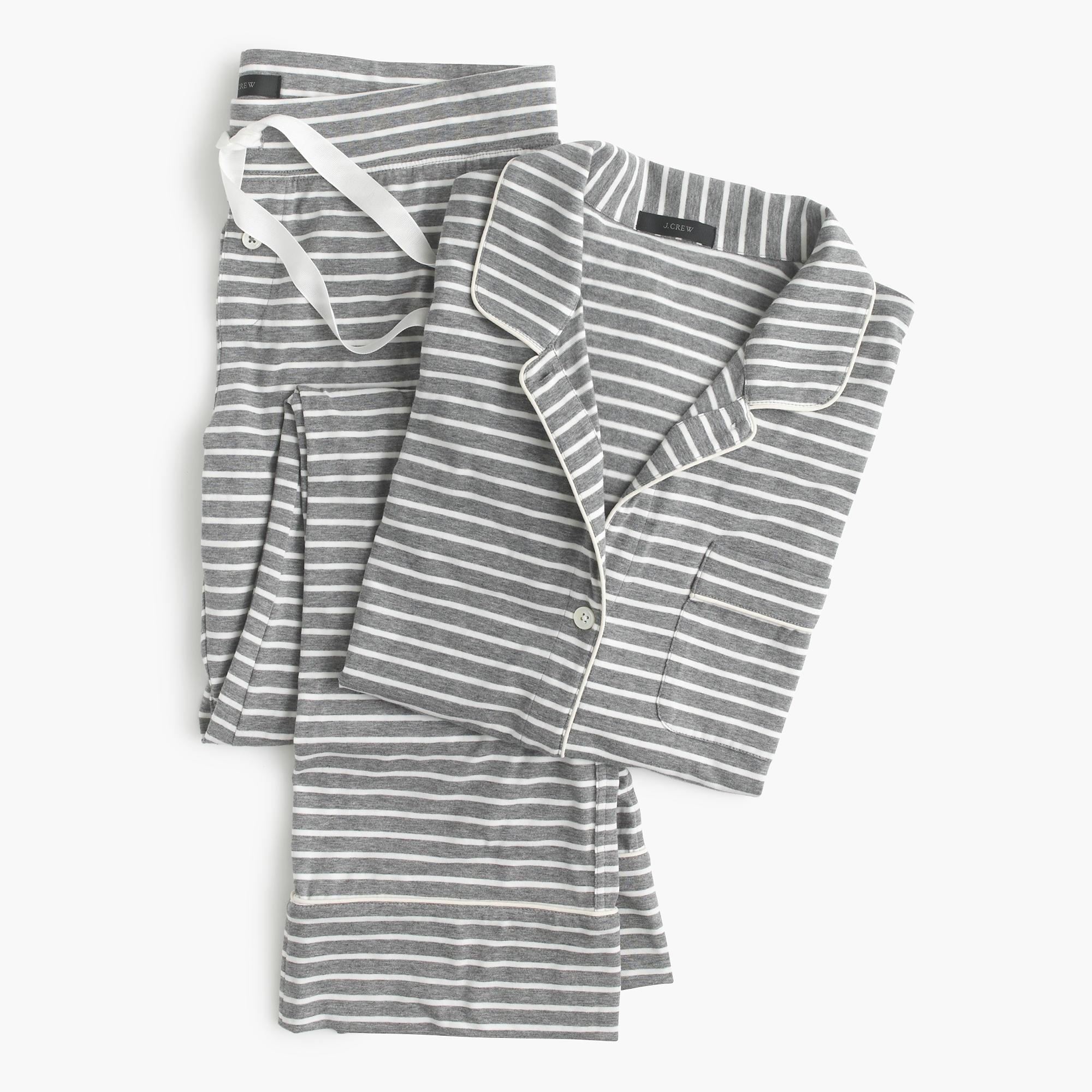 dreamy cotton pajama set in stripe   women u0026 39 s pajamas  u0026 sleepwear