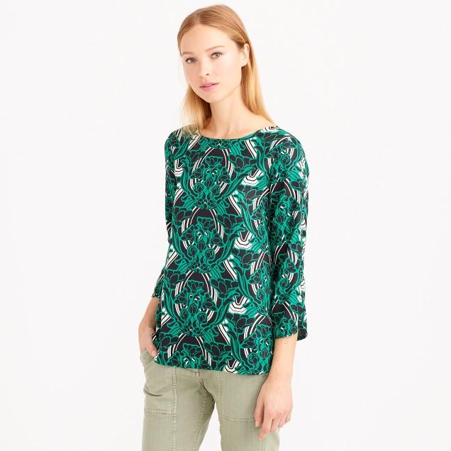 Retro floral popover shirt