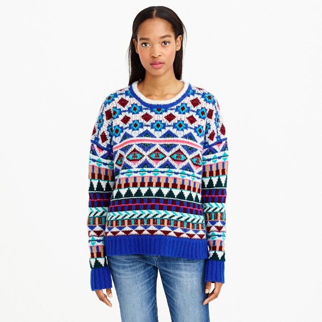 Collection cashmere graphic Fair Isle sweater