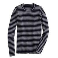 Stretch merino wool sweater in stripe