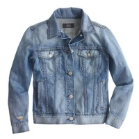 Broken-in jean jacket in Gregson wash
