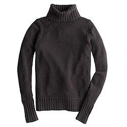 Italian cashmere chunky turtleneck sweater