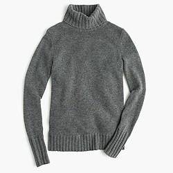 Italian cashmere chunky turtleneck sweater