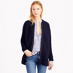 Collection ribbed wool sweater-jacket