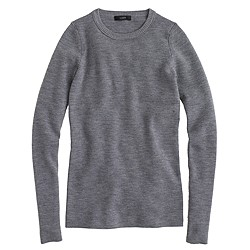 Stretch ribbed merino wool sweater