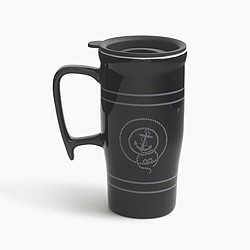 Anchor ceramic travel mug