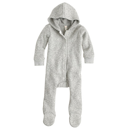 Baby Summit fleece footsie coverall