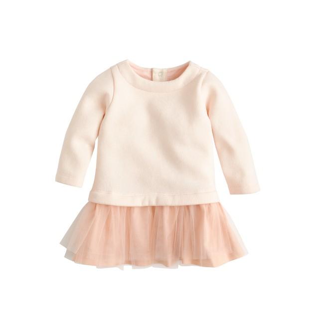 Baby tulle sweatshirt dress