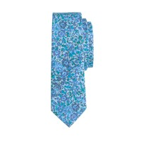 Boys' cotton tie in Liberty blue floral