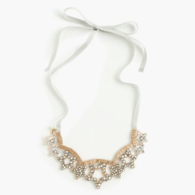 Girls' star gem necklace