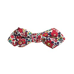 Boys' cotton bow tie in Liberty red floral