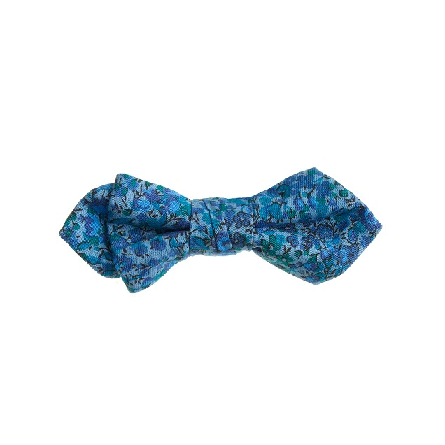 Boys' cotton bow tie in Liberty blue floral
