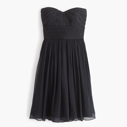 Marbella strapless dress in silk chiffon
