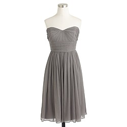Petite Marbella strapless dress in silk chiffon