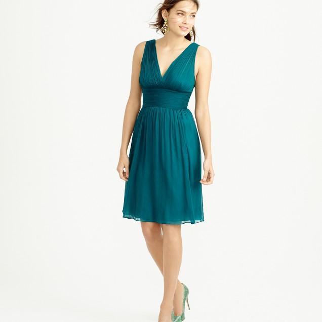 Petite Ava dress in silk chiffon