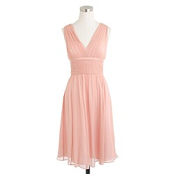 Petite Ava dress in silk chiffon
