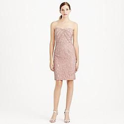 Kelsey strapless dress in Leavers lace
