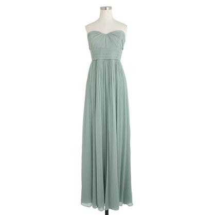 Marbella long dress in silk chiffon
