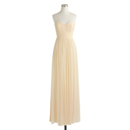 Marbella long dress in silk chiffon