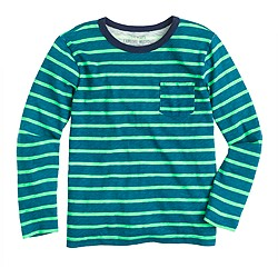 Boys' T-shirt in marine blue stripe