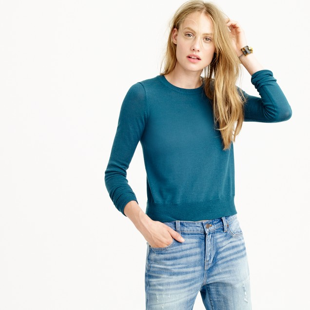 Merino wool crewneck sweater