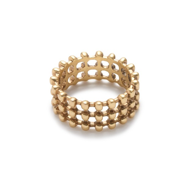 Stacked ball ring