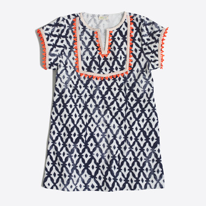 Girls' printed beach dress