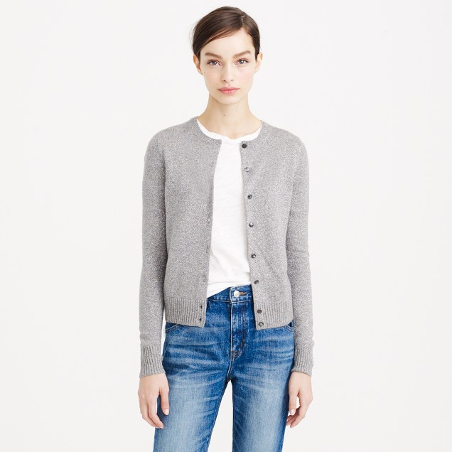 Collection cashmere sparkle cardigan sweater