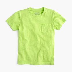 Boys' slub pocket T-shirt
