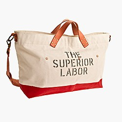 Superior Labor™ canvas and leather duffel bag