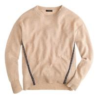 Wool metallic braid sweater