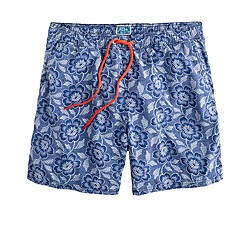 "6"" swim trunk in navy floral"