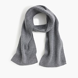 Kids' ribbed cashmere scarf