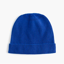 Kids' ribbed cashmere hat