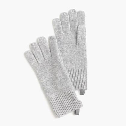 Kids' ribbed cashmere gloves