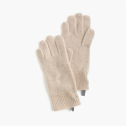 Kids' ribbed cashmere gloves