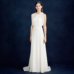 Sadie gown in swiss-dot chiffon