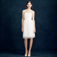 Amelia strapless dress in flocked tulle