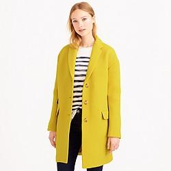 Golden double-cloth topcoat