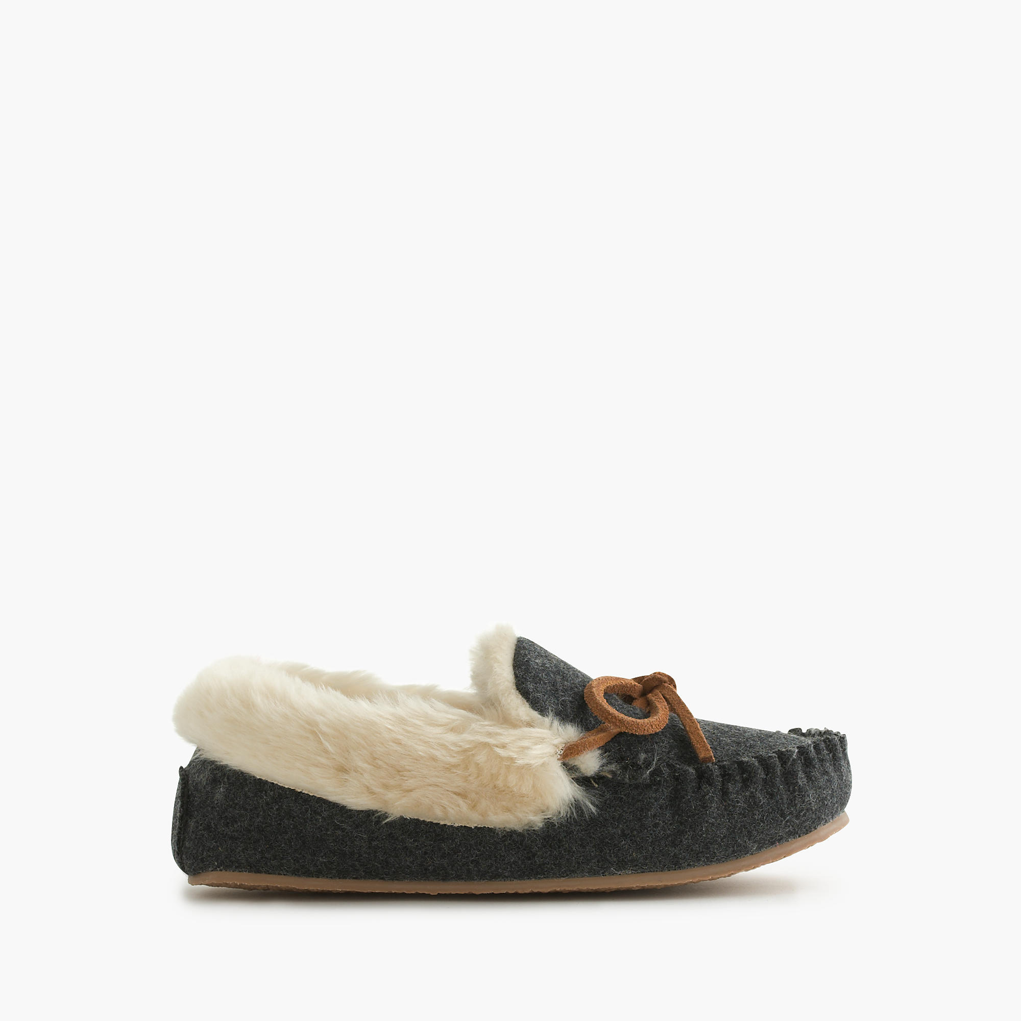 Kids 39 shearling lodge moccasins j crew for J crew bedroom slippers