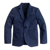 Boys' unconstructed Ludlow blazer in Italian cotton