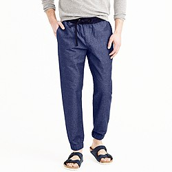 Sideline pant in chambray