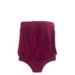 Jersey Lomellina® blouson one-piece swimsuit