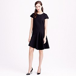 Petite flounce dress in Super 120s wool