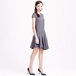 Petite flounce dress in Super 120s wool