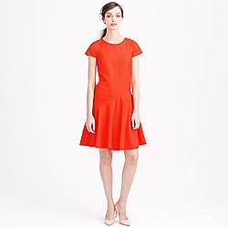 Flounce dress in Super 120s wool
