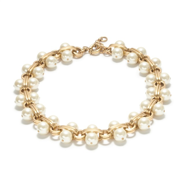 Pearl-lock necklace